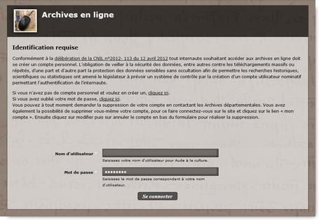 Archives Départementales de l'Aude