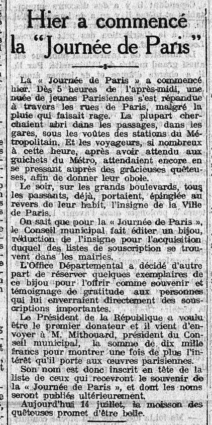14 juillet 1915