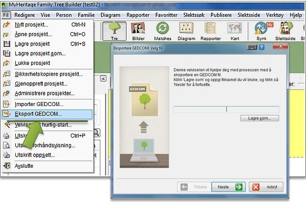 Hvordan eksportere en GEDCOM-fil fra din personlige genealogiske programvare?