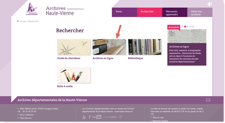 Archives départementales en ligne de la Haute Vienne Ad87-2
