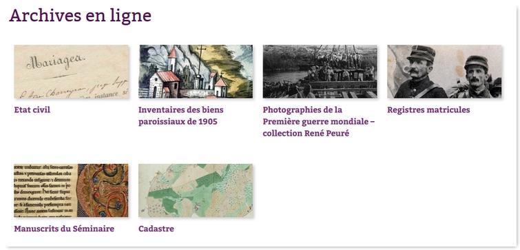 Archives départementales en ligne de la Haute Vienne Ad87-3