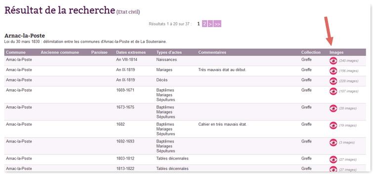 Archives départementales en ligne de la Haute Vienne Ad87-5