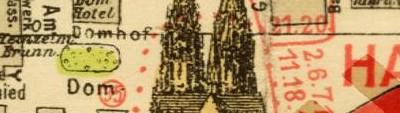 historischer Stadtplan Köln