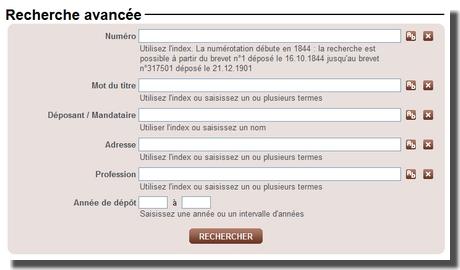Les bases de données oubliées : les archives de l'INPI : Les brevets du 19 ème siècle  Inpi2