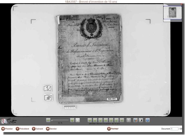 Les bases de données oubliées : les archives de l'INPI : Les brevets du 19 ème siècle  Inpi4