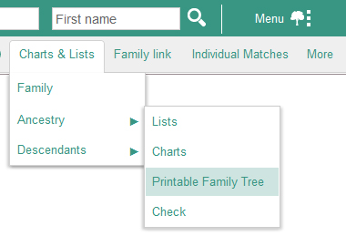 how to print and export an illustrated family tree geneanet