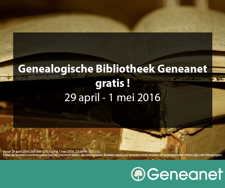genealogy-library-free-april-29-may-1-2016 - NL
