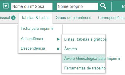 Novo Interface Para A Arvore Genealogica Para Imprimir Geneanet
