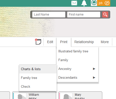 download print and share your geneanet family tree as a list geneanet
