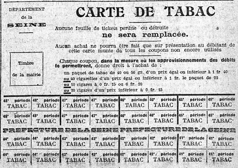 6 juillet 1918 : la carte de tabac - geneanet