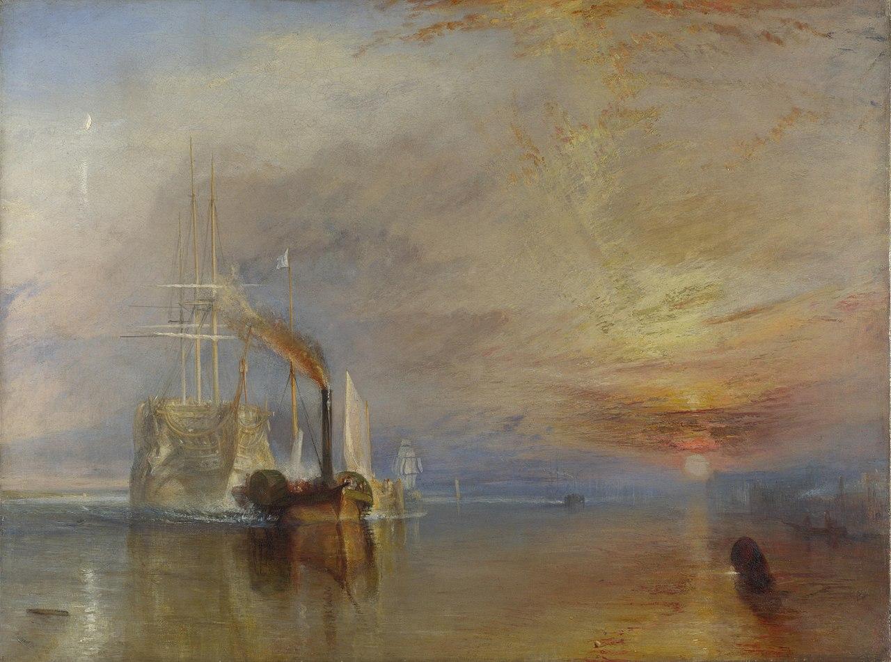 Le Dernier Voyage du Téméraire, tableau de Joseph Mallord William Turner.