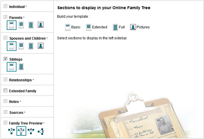 new geneanet feature build your public online family tree template