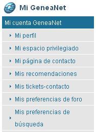 GeneaNet - Mes informations personnelles