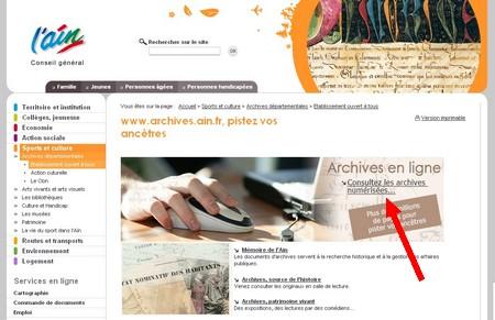 GeneaNet - les archives de l'Ain en ligne