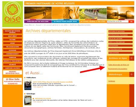 GeneaNet - les archives de l'Oise en ligne