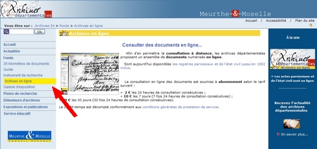 GeneaNet - Les archives de Meurthe-et-Moselle en ligne