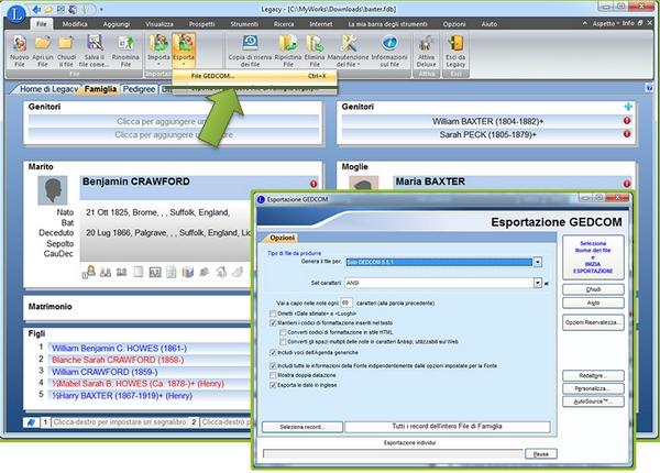 Como Exportar um Ficheiro GEDCOM a partir do seu Software de Genealogia Pessoal?