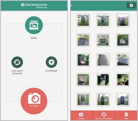 Ta bilder av gravlunder med GeneaGraves